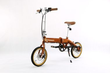 36V 8A Small Lithium Bicycle , Foldable Electric Bikes Allowed On Bus / Metro / Train